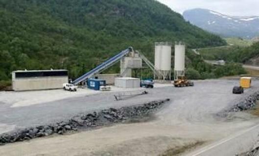 Den første mobile betongfabrikken ble i høst satt opp på Filefjell.