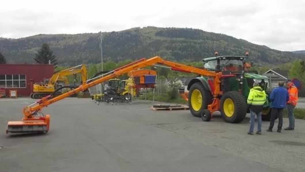 LANG REKKEVIDDE: Bildet er fra opplæringen ved Bulder-anlegget på Solbergmoen tidligere i mai.