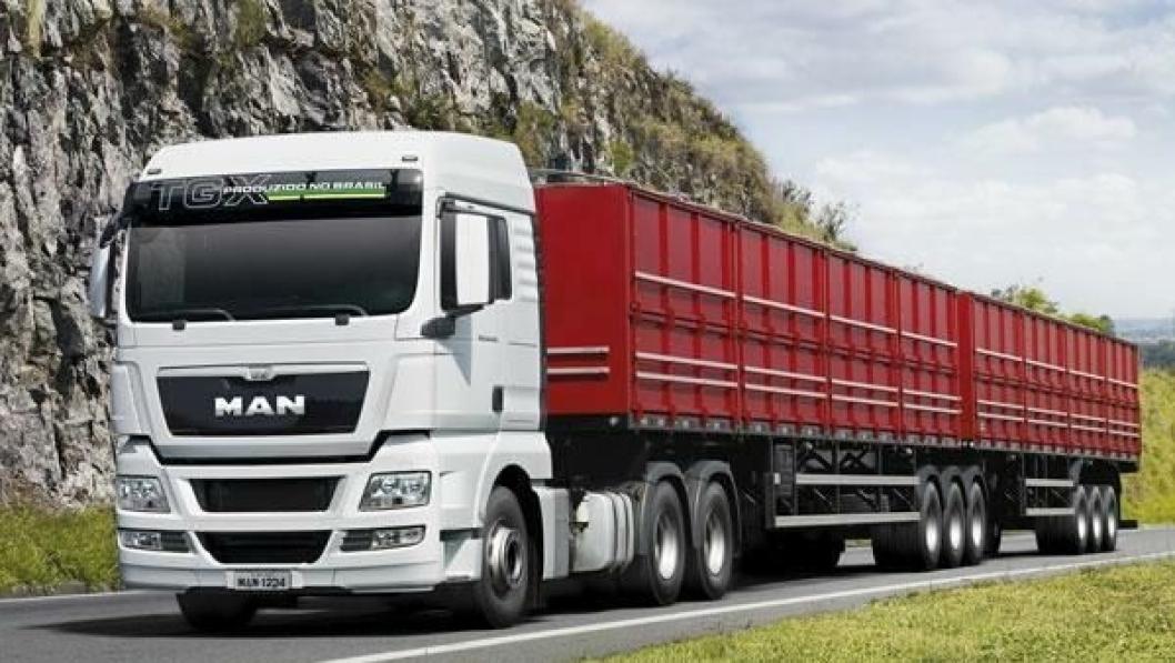 Brasilianskbygde MAN TGX må ta mange tunge tak. Tillatt totalvekt for visse vogntogkombinasjoner er opptil 74 tonn.