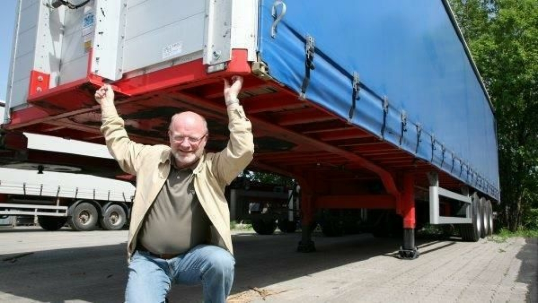 Erling Sæther tar stadig nye løft for modulvogntogene.