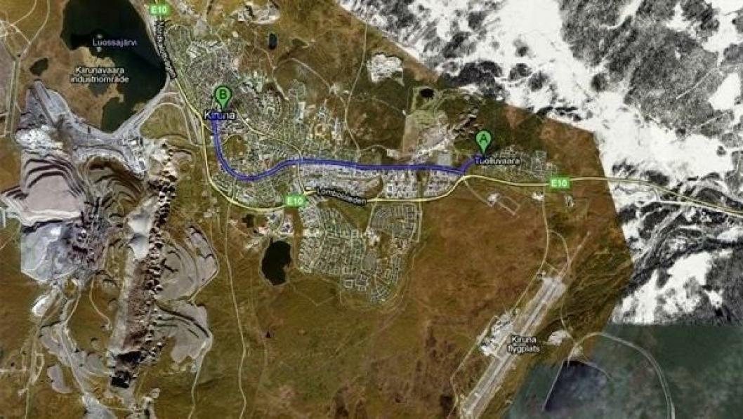 Kiruna sentrum skal flyttes til Tuolluvaara.