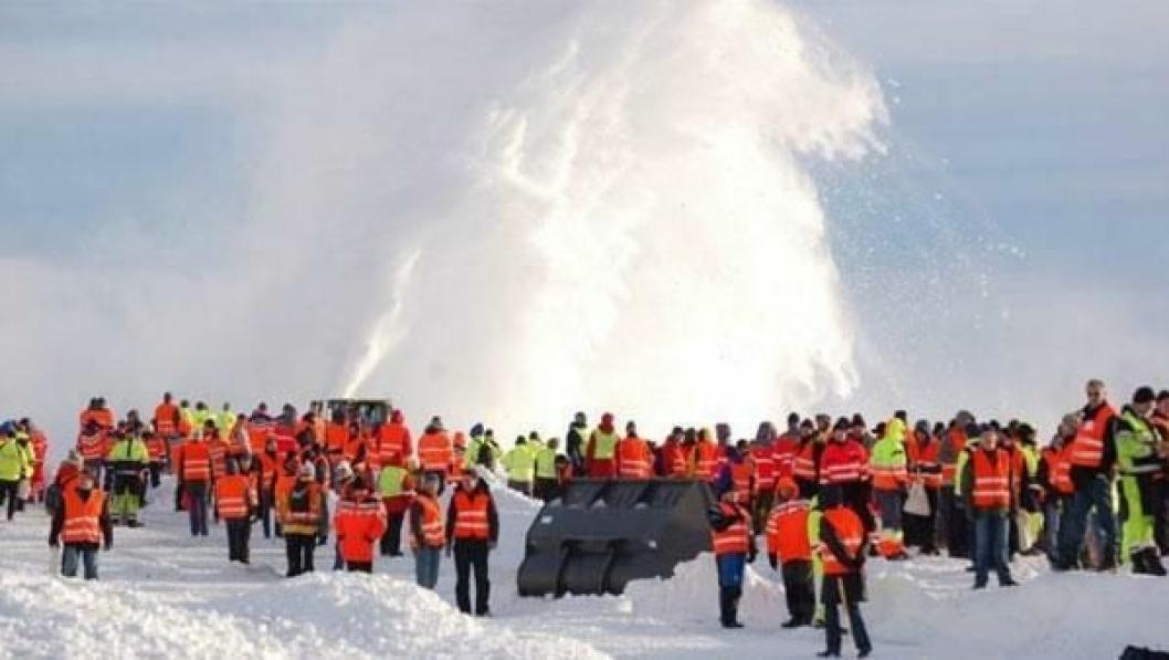 Demonstrasjon av utstyr for vinterdrift er en selvskreven del av Vinterdagene.