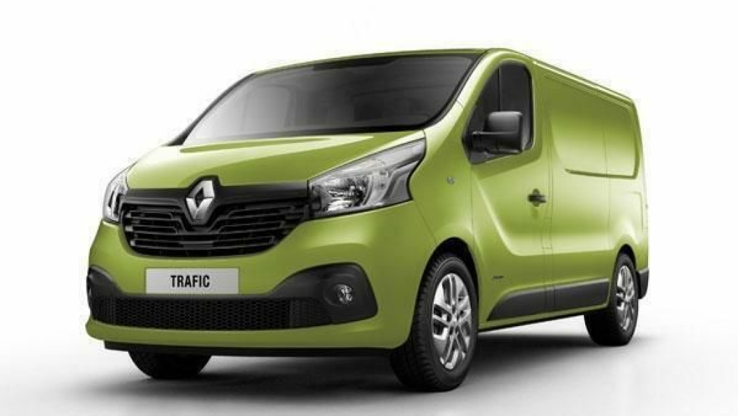 Nye Renault Trafic har rene linjer med klart Renault-preg.