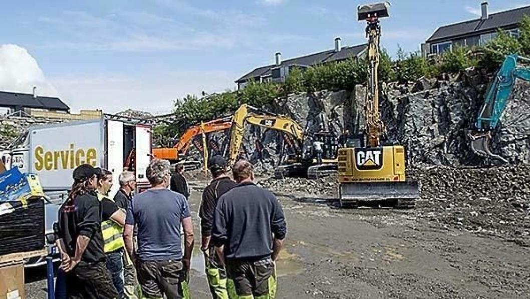 Det var mange som både skuet og prøvde maskiner på testfeltet under Anlegg 2014 i Haugesund.