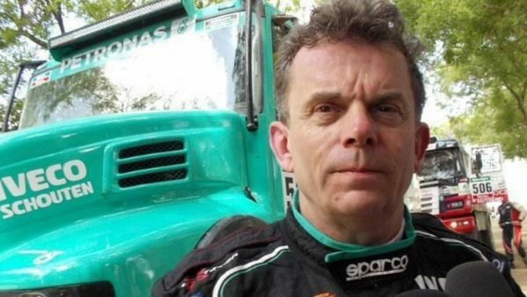 Hans Stacey i en Iveco Powerstar vant første lastebiletappe i Dakar Rally 2015.