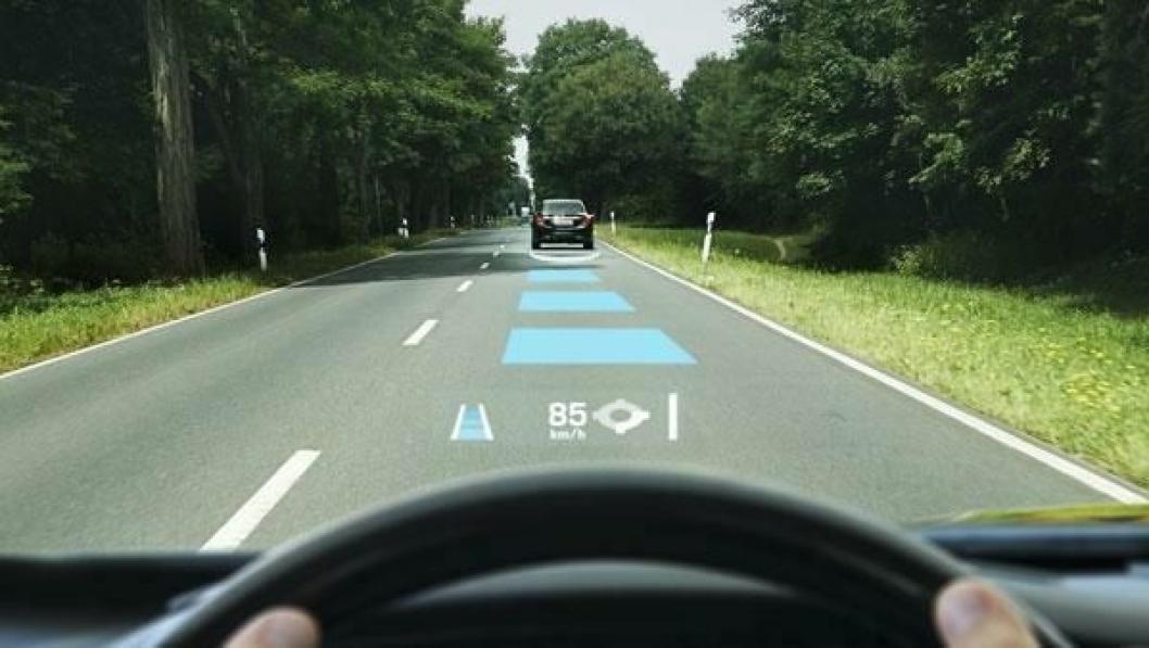 Continentals head-up display vil gi bilføreren verdifull informasjon på frontruten, direkte i synsfeltet.