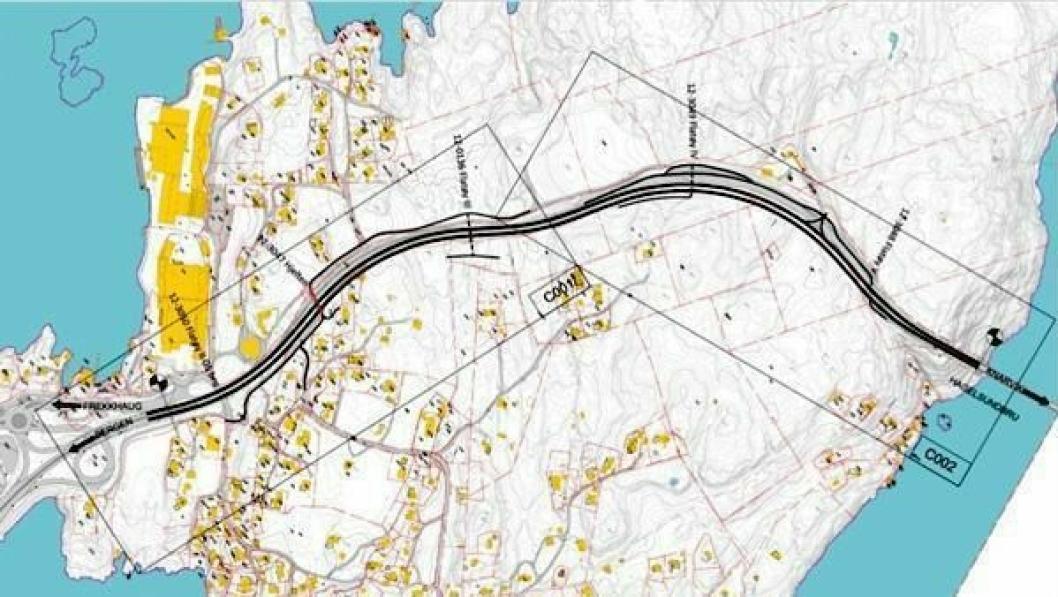 Illustrasjon over trafikksikringsprosjektet.