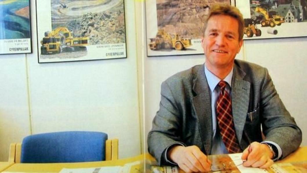 Adm. direktør Inge Stensland: - Eierskifte blir bra for våre ansatte, for våre kunder og for Caterpillar. (Fotografi av bilde i bladet)