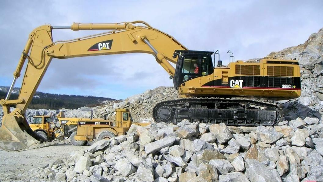 Cats nye 90-tonner 385C L ble for kort tid siden satt i drift hos Brønnøy Kalk.