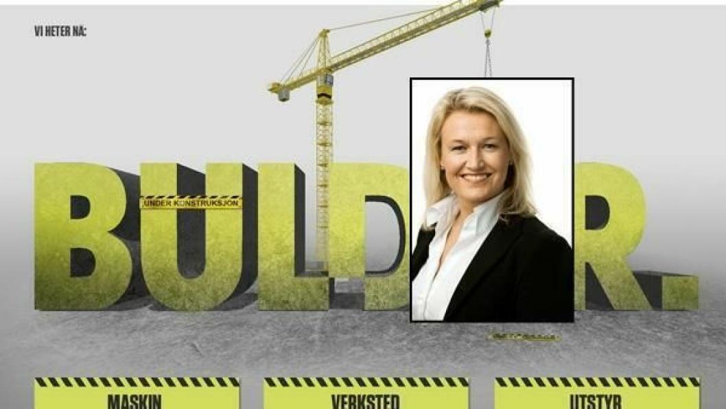 Bulders nye hjemmesider er under konstruksjon. Adm. dir. Ingrid Tjøsvold ønsker et mer synlig selskap.