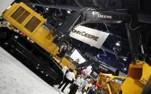 John Deere er store i USA, noe som vises på standen. Noen plan om å satse på anleggsmaskiner i Europa finnes imidlertid ikke.