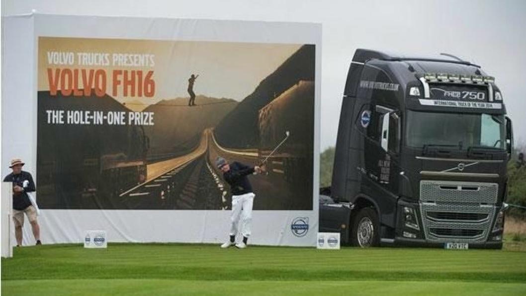 Her, på det 204 meter lange, hull 12, er det mulig å få med seg en flunkende ny lastebil - om man er dyktig og har flaks.