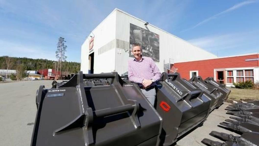 STOR AVTALE: Tor Kjetilson Moe og Gjerstad Products AS er hovedeier i svenske Mowit som skal levere HK-fester og skuffer til 500 Yanmar-maskiner.