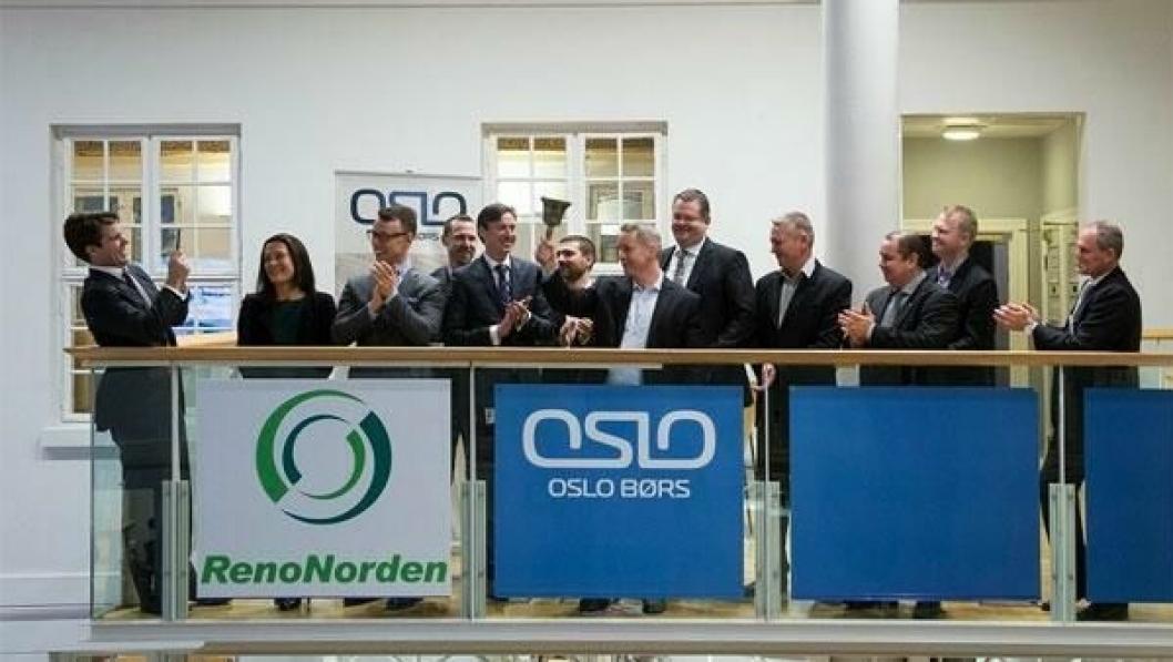 Bjelleringing på Oslo børs, tirsdag 16. desember, av ledelsen i Renonorden.