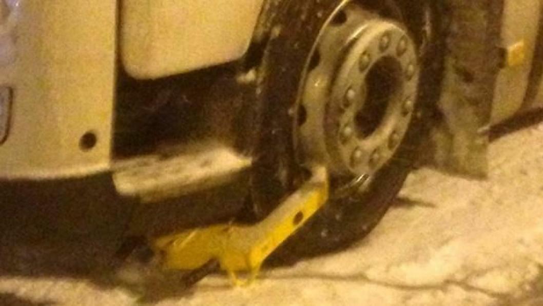 Det ble tvungen stopp for denne lastebilen på Sørlandet torsdag 16. januar.