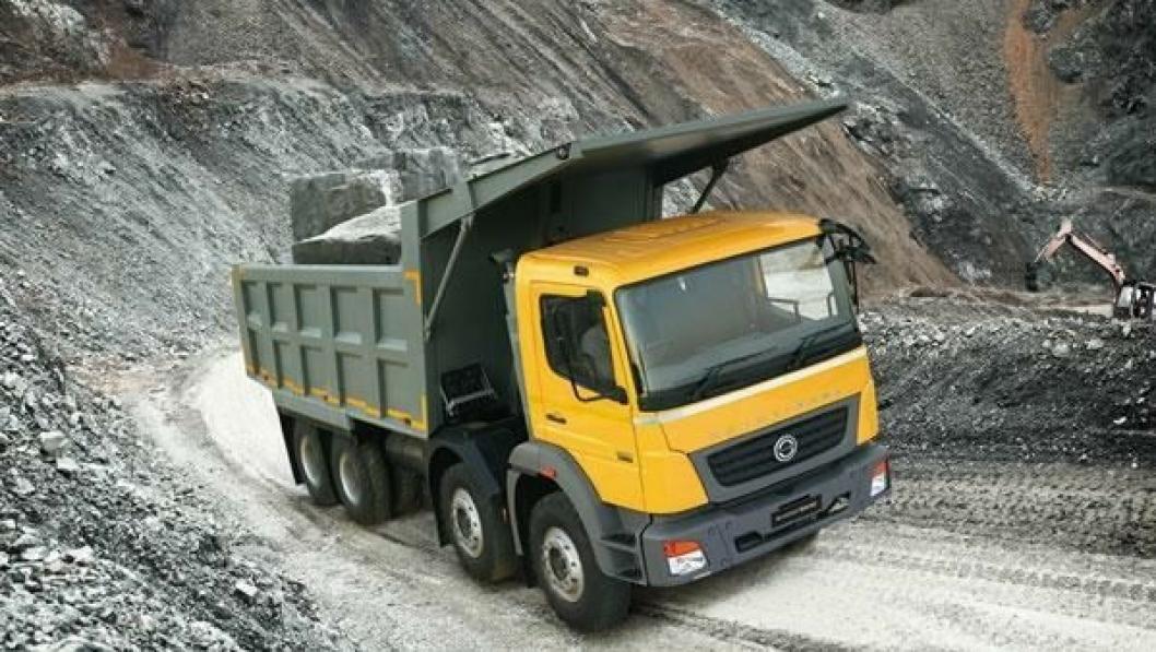 Anleggsbilen 3128CM er en av de fire modellene av BharatBenz lansert i slutten av januar.