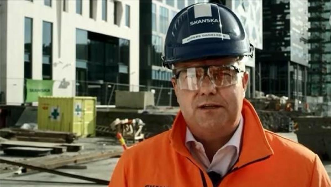Adm. direktør i Skanska Norge AS, Anders Danielsson. Bildet er fra Skanskas Sikkerhetsuka 2012..