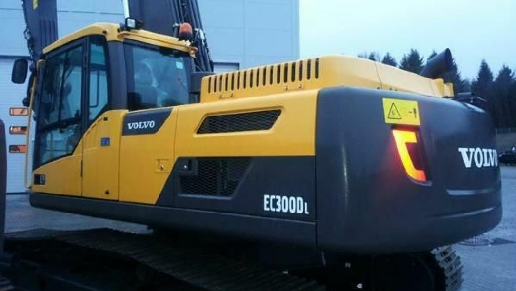 Denne maskinen ble levert til Malleus Utleie AS i romjula.