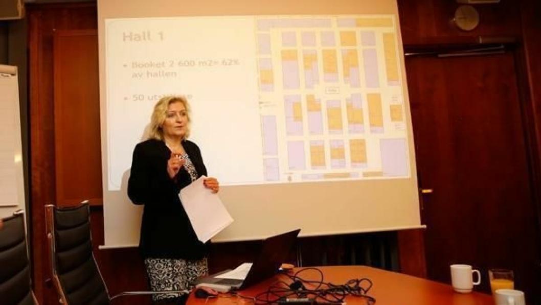 NYTT STED: Den Tekniske Messen skal arrangeres på Exporama på Hellerudsletta neste år. Adm. direktør i MGF, Anita Hall, informerte pressen på torsdag.