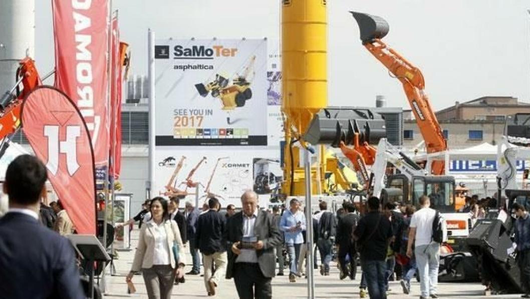 FEBRUAR 2017: I år var Samoter i mai, men om tre år arrangeres anleggsmessen i februar i Verona.