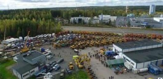 Slik så det ut under Ritchie Bros.-auksjonen i Finland i september i fjor.