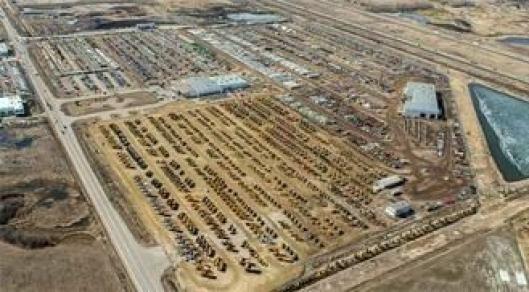 Ritchie Bros.-området i Edmonton i Canada er enormt.