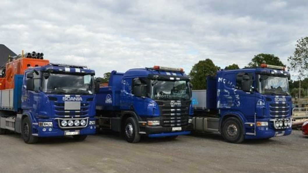 Syv av ti lastebiler hos Drottningholms Entreprenad har Allison automatgirkasser.