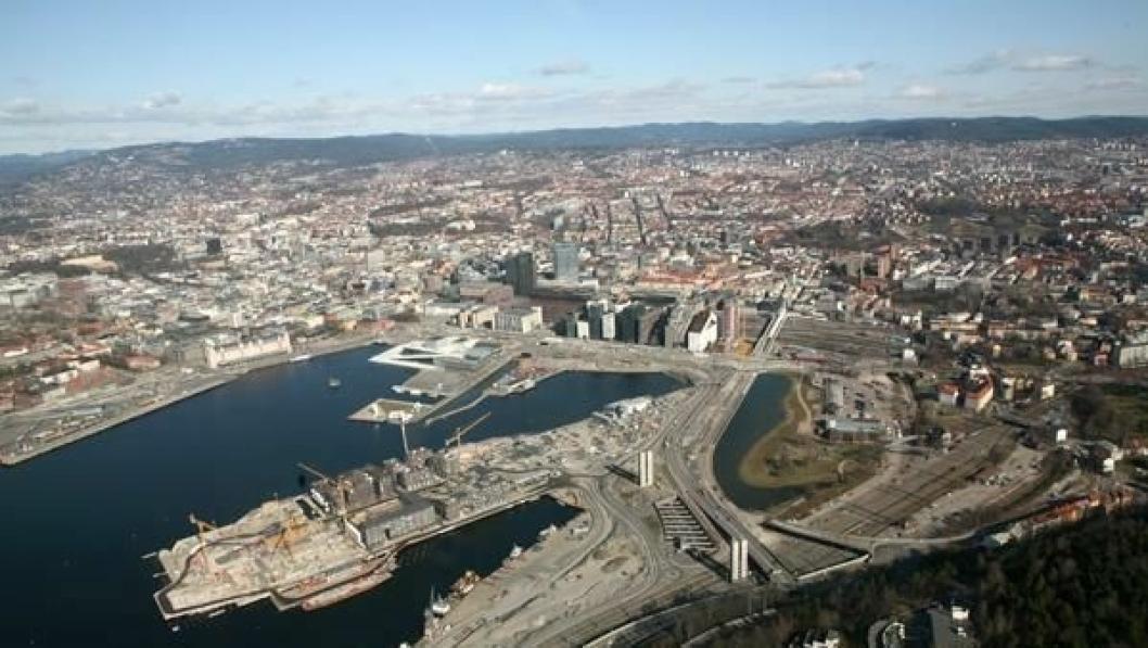 Oslo sentrum.