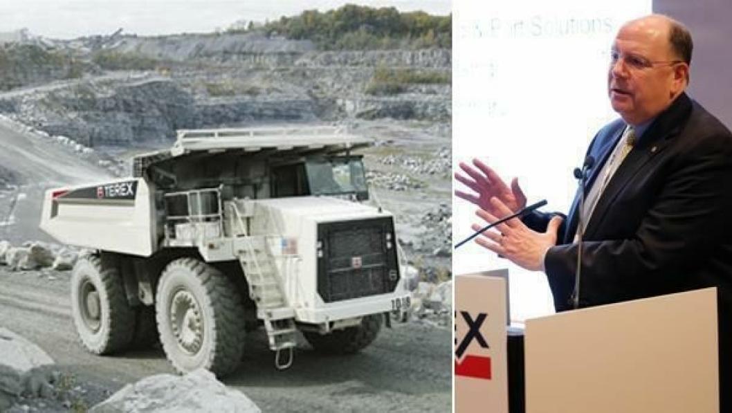 Terex-toppsjef Ron DeFeo må se at dumpervirksomheten forsvinner.