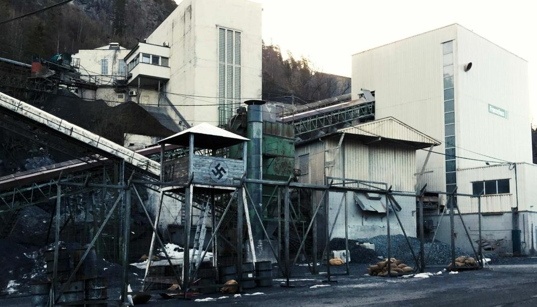 Franzefoss pukk på Steinskogen i Bærum slik det så ut da filmen «Den 12. mann» ble spilt inn.