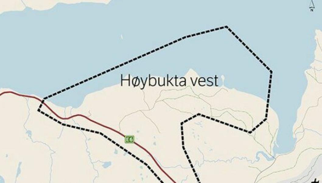 Reguleringsarbeidet for Høybukta vest utenfor Kirkenes.