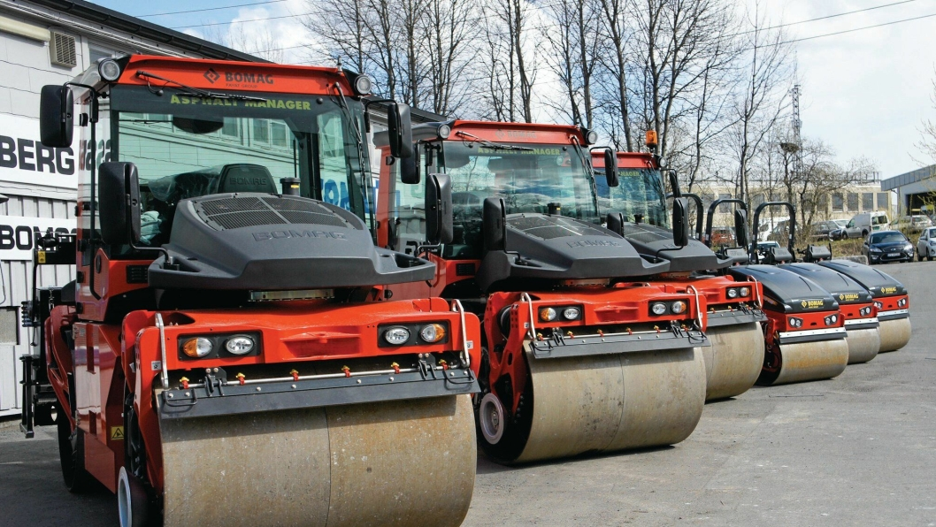 16 VALSER: Hesselberg Maskin skal levere 16 Bomag-valser til Veidekke Industri.