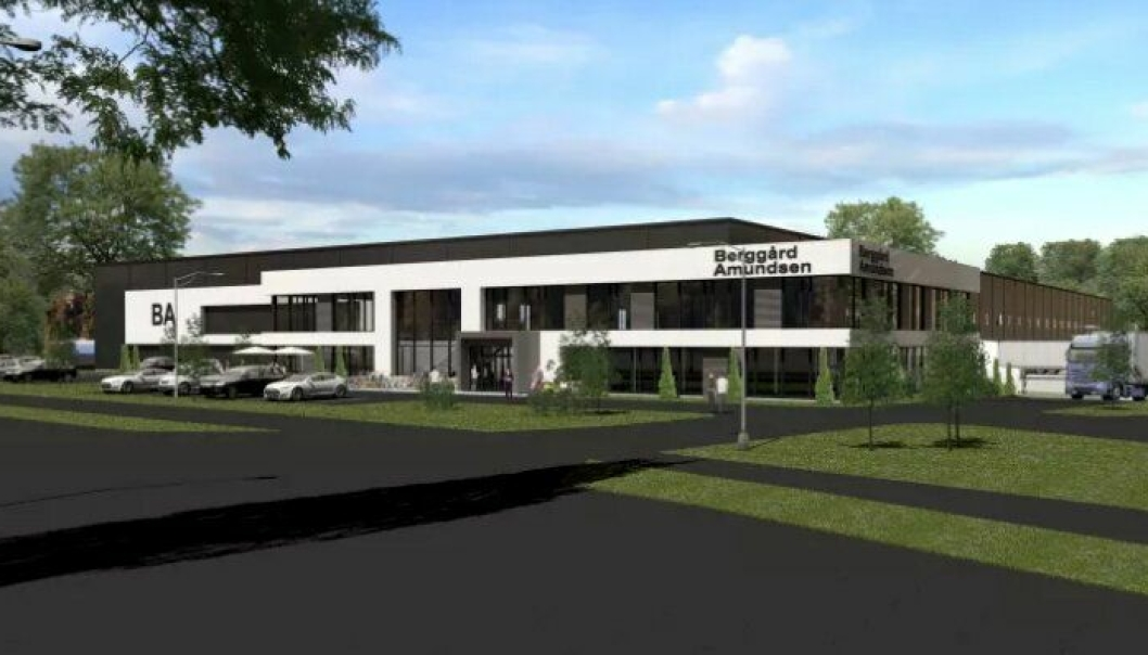 Nytt hovedkontor og lager for Berggård Amundsen & Co. AS i 2019.