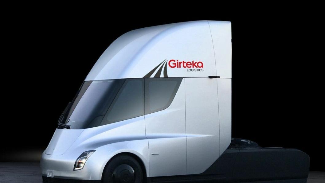 Girteka Logistics kjøper Tesla Semi for transport i Europa. det er ikke opplyst fra selskapet om det er snakk om én eller flere trekkvogner.