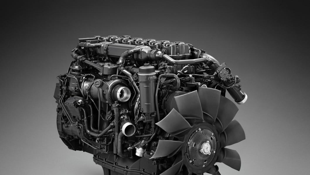 Gassmotoren OC13 til bruk i Scanias nye lastebilgenerasjon.
