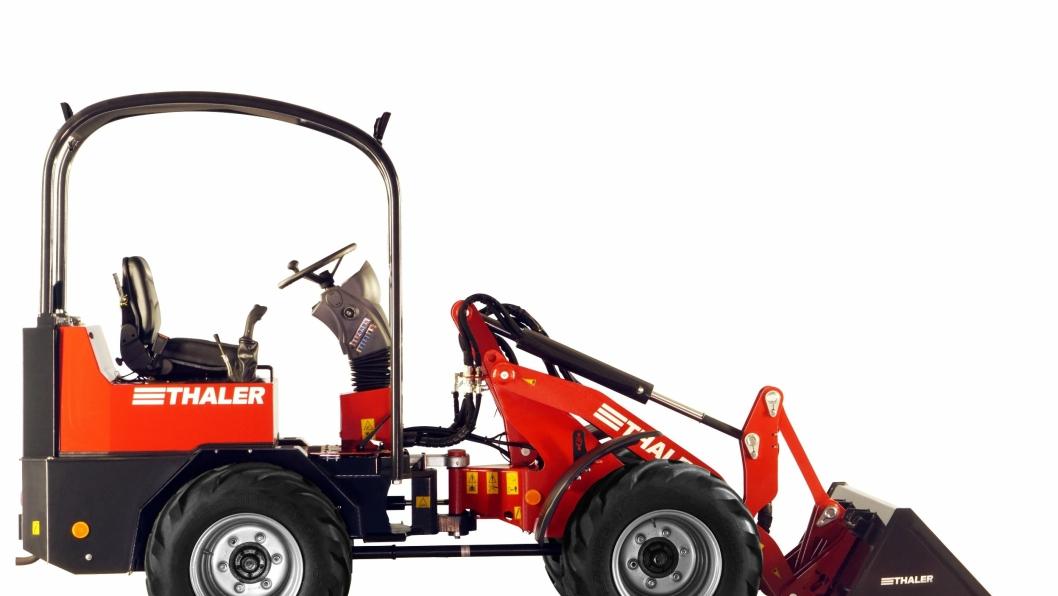 Thaler minihjullaster som markedsføres i Norge av Lier-bedriften Elmaas AS.
