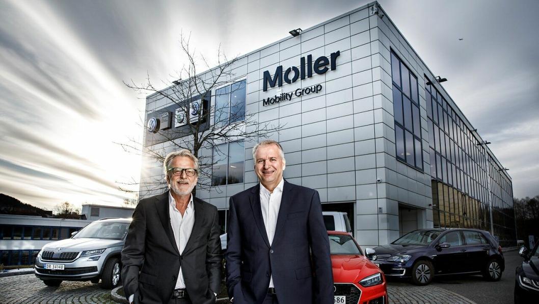 Harald Møller (t.v) og Terje Male.