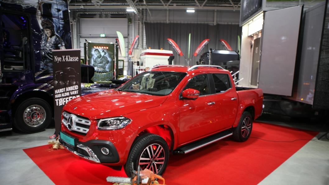 Mercedes-Benz' pickup ble stilt ut offentlig før første gang i Norge på Oslo Motor Show i Lillestrøm siste helg i oktober 2017.
