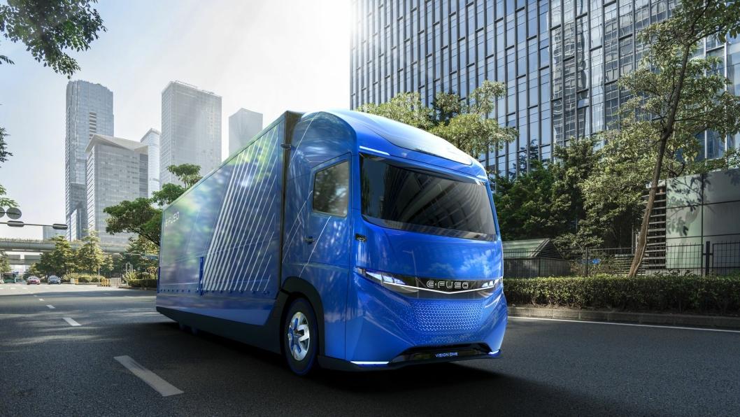 E-Fuso Vision One er en elektrisk lastebil som kan frakte elleve tonn 350 km på en lading.