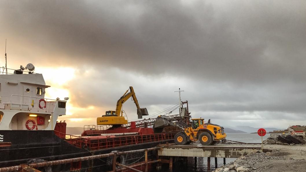 I september gikk første lass fra Feiring Nord på Vannøya.
