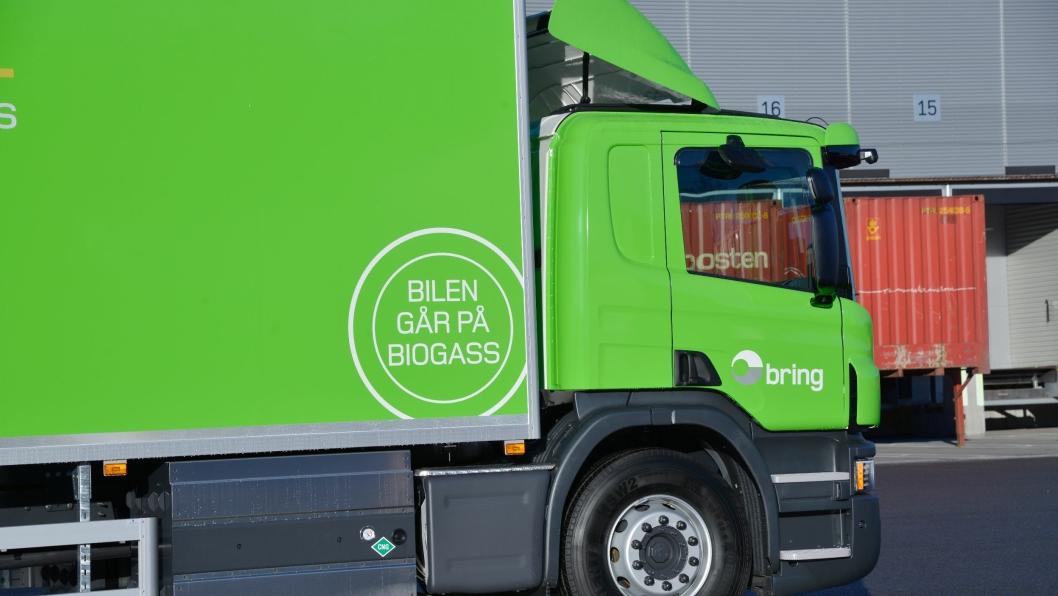 Posten har allerede i dag flere biler som går på biogass.