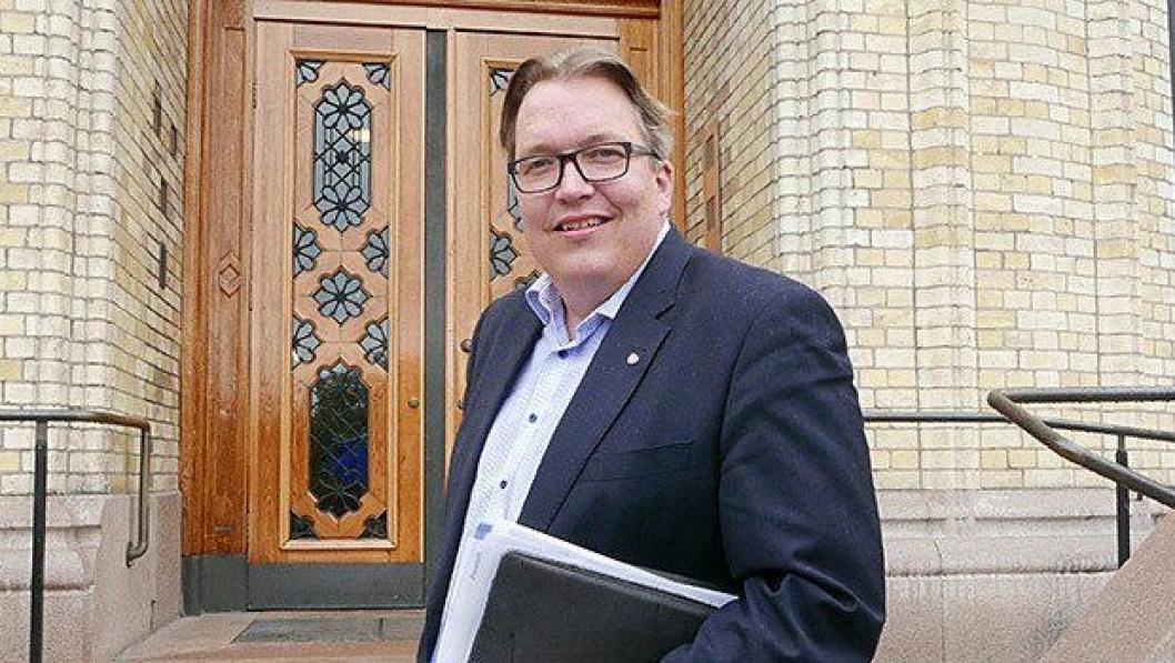 Sverre Myrli (Ap) tok opp utenlandske lastebiler i Stortingets spørretime.