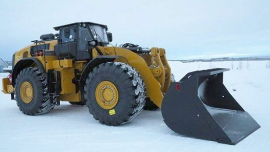 Senket 980M hjullaster. Foto: Pon Equipment AB