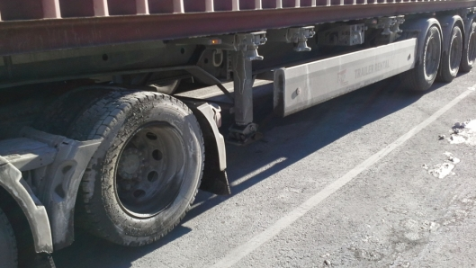 Når akslene ble senket, var vogntoget lovlig lastet.