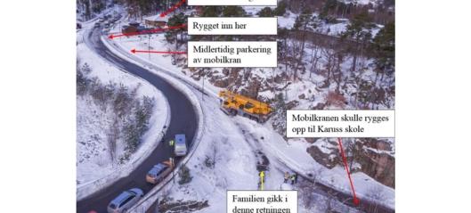Rapport om trafikkulykke med mobilkran