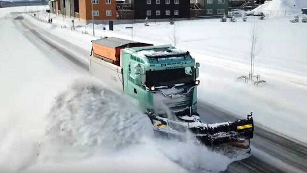 Brøyting i Trondheim vinteren 2017/2018.