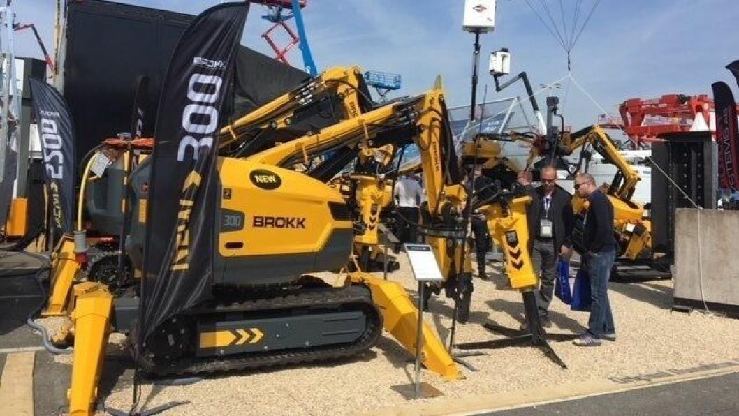De nye modellene fra Brokk AB var stilt ut på Intermat i Paris i april.
