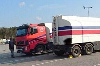 Diesel-transport fikk kjøreforbud