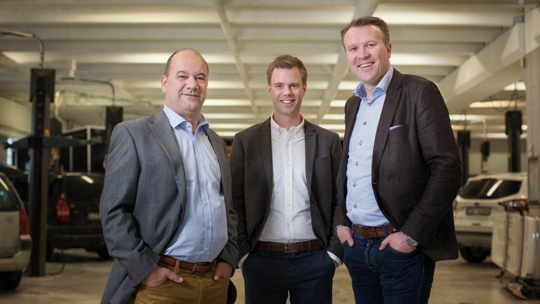 Fra venstre: Administrerende direktør Stefan Funch, Anders Engum og Erik Frey Olsen.