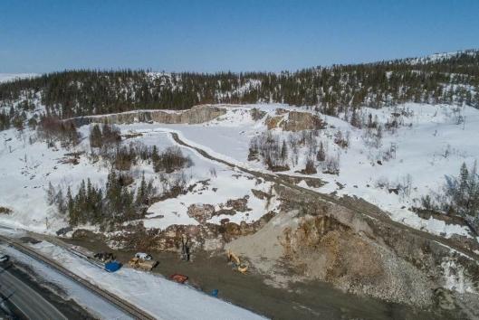 BetonmastHæhre er i gang med arbeidene på Sefrivatn Pukkverk.